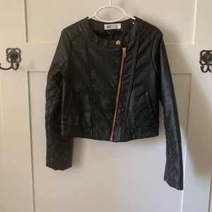 H&M girls leather jacket size 7-8